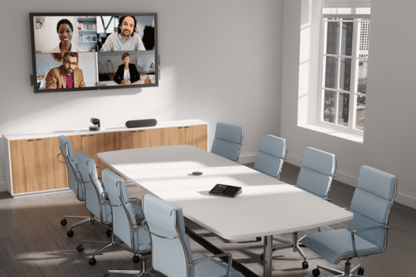 Dell medium meeting room with Zoom
