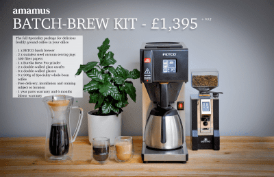 Batch brew filter coffee offer
