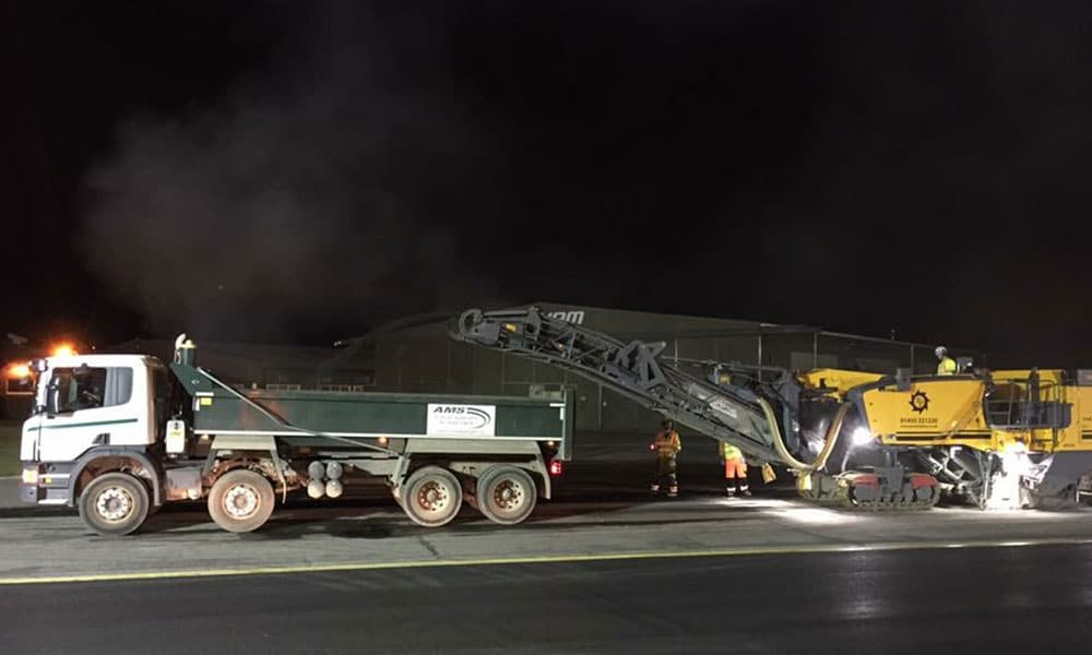 Tarmac resurfacing at Bournemouth airport