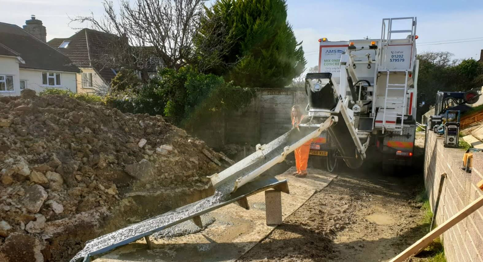 Pouring concrete in Poole