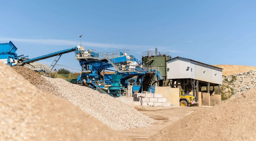 AMS aggregates and inert recycling facility