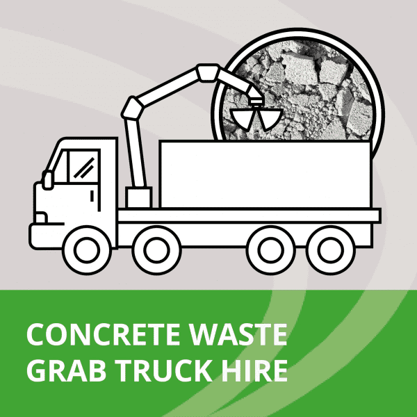 concrete waste grab truck collection