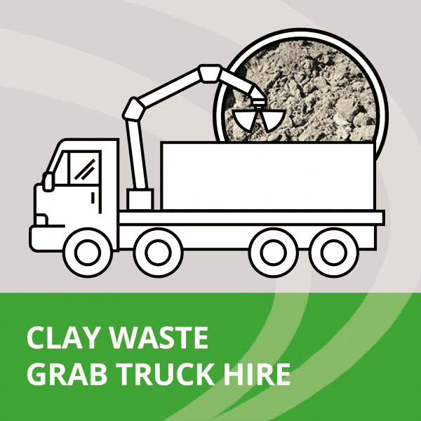 clay waste disposal in grab lorry