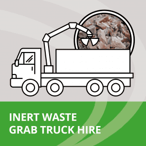 Inert waste collection on grab trucks